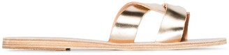 Ancient Greek Sandals Gold Desmos crossover leather sandals