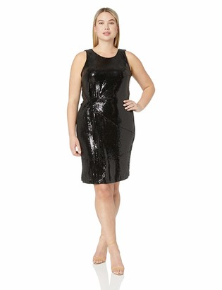 Taylor Dresses Women's Plus Size Sleeveless Sequin Cocktail Dress
