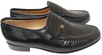 Barker Black Leather Flats