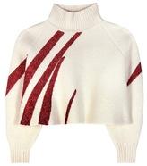 Vika Gazinskaya Metallic Wool Cropped Sweater