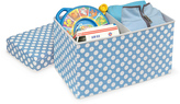 Badger Basket Blue Polka Dot Double Folding Storage Box