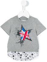 John Galliano flag print T-shirt