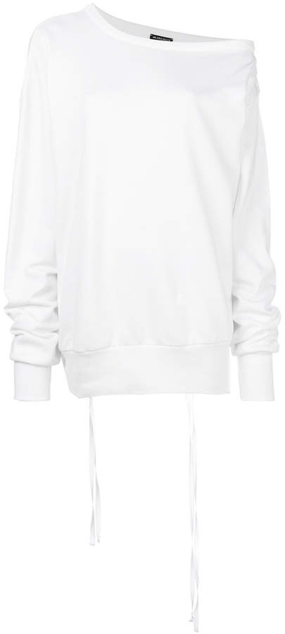 Ann Demeulemeester off-the-shoulder sweatshirt