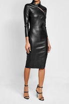 Jitrois Embellished Leather Pencil Dress