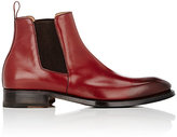 Barneys New York MEN'S BURNISHED CHELSEA BOOTS-RED SIZE 11.5 M