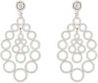 Latelita Circles Teardrop Large Statement Earrings Silver