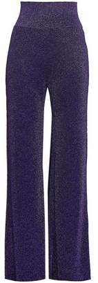 Missoni Metallic Crochet-knit Wide-leg Pants