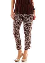 Liz Claiborne Piped Soft Pants - Tall