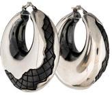 Bottega Veneta Oxidized Antique Intrecciato Hoop Earrings