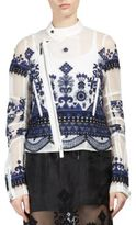 Sacai Tribal Lace Blouson Moto Jacket
