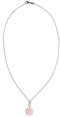 Monica Rich Kosann 18kt Gold Vermeil Enamel Locket Necklace