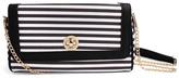 Riah Fashion Striped Twist Lock Bag
