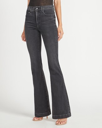 Express High Waisted Black Slim Flare Jeans