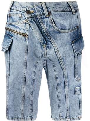 Ottolinger off-centre button shorts