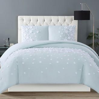 Christian Siriano Confetti Flowers 2-Piece Blush Twin XL Comforter Set