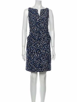 Oscar de la Renta 2014 Mini Dress Blue