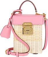 Mark Cross Grace Cube Rattan Box Bag