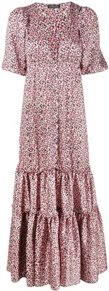 Wandering Floral-Print Tiered Maxi Dress