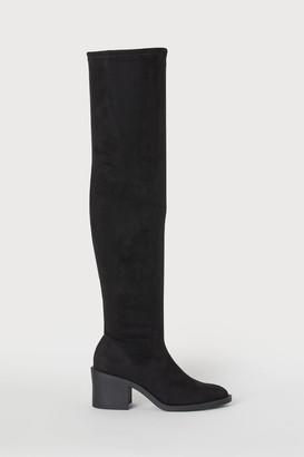 H&M Thigh-high Boots - Black