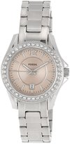 Fossil Women's Riley ES3378 Silver Stainless-Steel Quartz Watch with Dial
