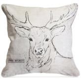 """Graham & Brown Deer 20"""" Square Decorative Pillow"""