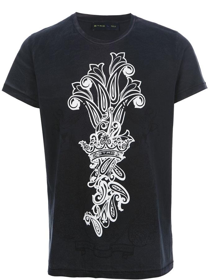 Etro emblem print t-shirt
