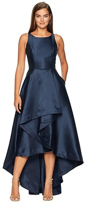 Adrianna Papell Mikado High-Low Gown