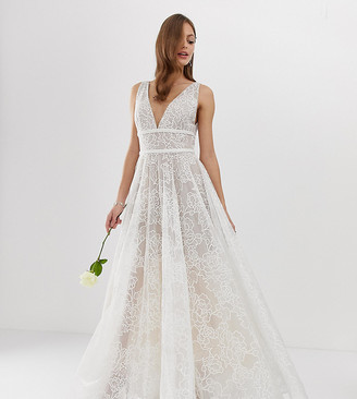 Bronx And Banco & Banco Emily exclusive embellished bridal gown-White