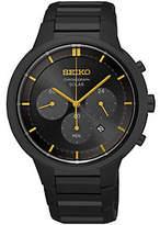 Seiko Men's Black Chronograph Bracelet Watch
