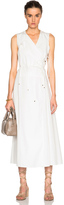 Rosetta Getty Cotton Poplin Tie Front Wrap Dress