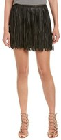 MLV Leather Fringe Skirt.