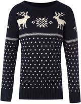 Gant Boys long-sleeved reindeer print jumper