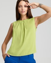 Vince Camuto Pleated Back Zip Blouse