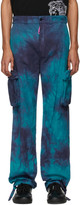 Off-White Off White Blue Ripstop Cargo Pants
