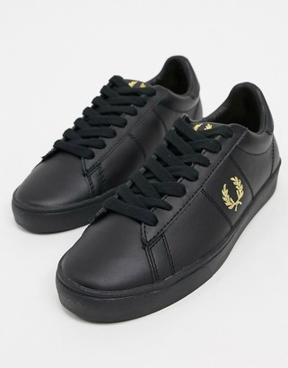 Fred Perry Spencer leather sneakers in black