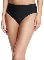 Athena Cabana Solids Landa Mid-Rise Hipster Swim Bottom, Black