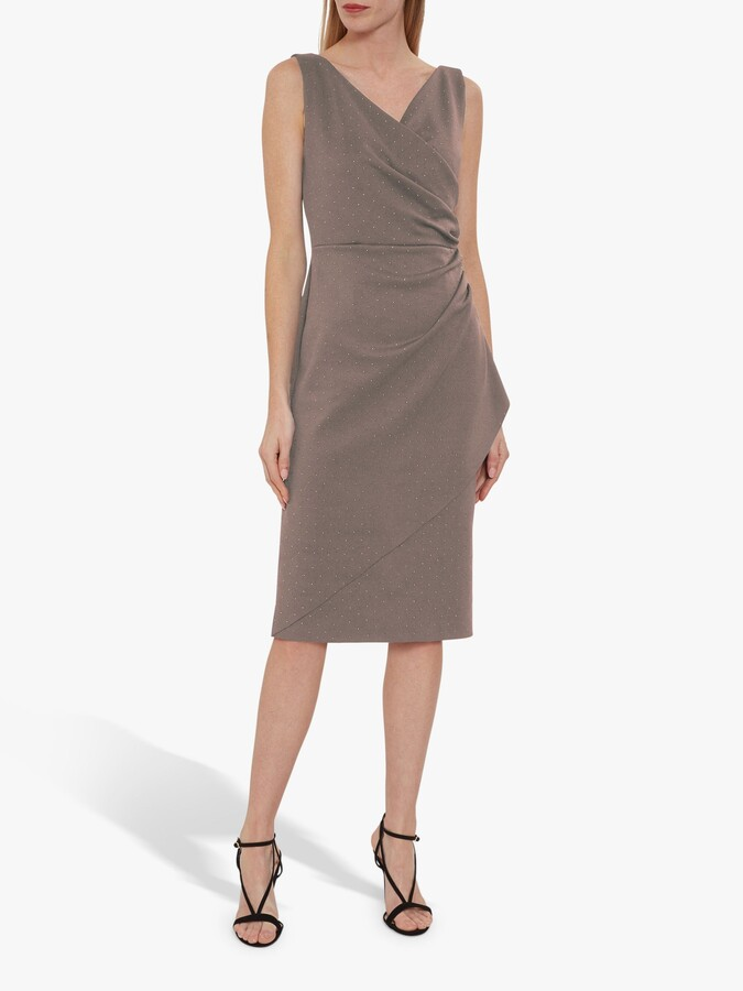 Thumbnail for your product : Gina Bacconi Tessie Stud Wrap Dress