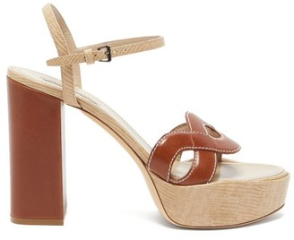 Fabrizio Viti - Forever Two-tone Leather Platform Sandals - Womens - Tan Multi