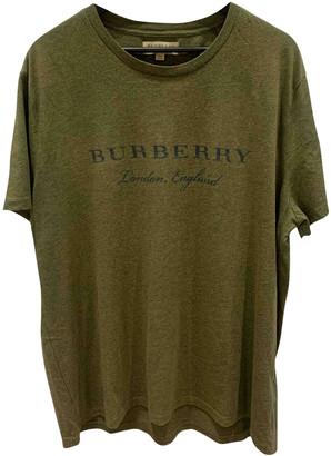 Burberry Navy Cotton T-shirts