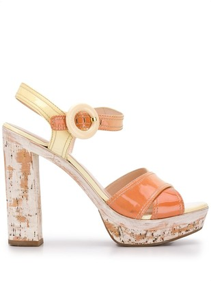 Prada Pre Owned 2000s Platform Sandals