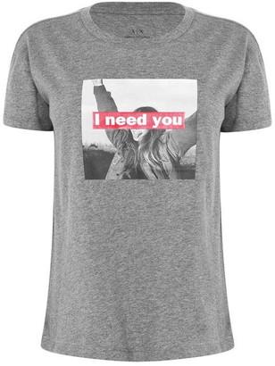 Armani Exchange I Need You Graphic T Shirt