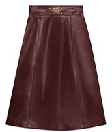 Gucci Leather skirt with Interlocking G detail