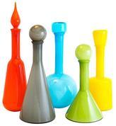 "Jonathan Adler Colored Glass Decanter ""Pop"""