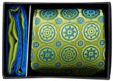 Ted Baker Silk Ella Medallion Tie & Pocket Square Set