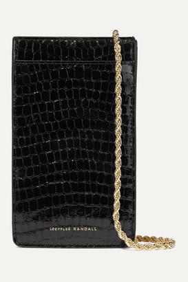 Loeffler Randall Augusta Croc-effect Patent-leather Shoulder Bag - Black