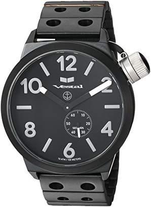 Vestal Unisex CNT453M06.DBKM Canteen Metal Analog Display Analog Quartz Black Watch