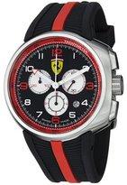 Ferrari Men's F1 Fast Lap Chronograph Black Dial Black Rubber FE10ACCCGBK Watch