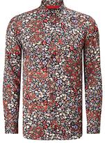 Diesel S-nico Floral Shirt, Black