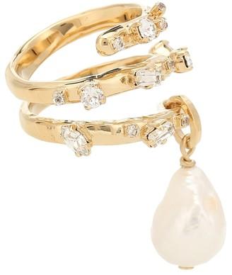 Givenchy Spiral pearl ring