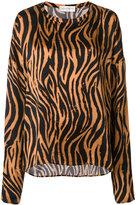 Faith Connexion tiger print longsleeved blouse - women - Silk - XS